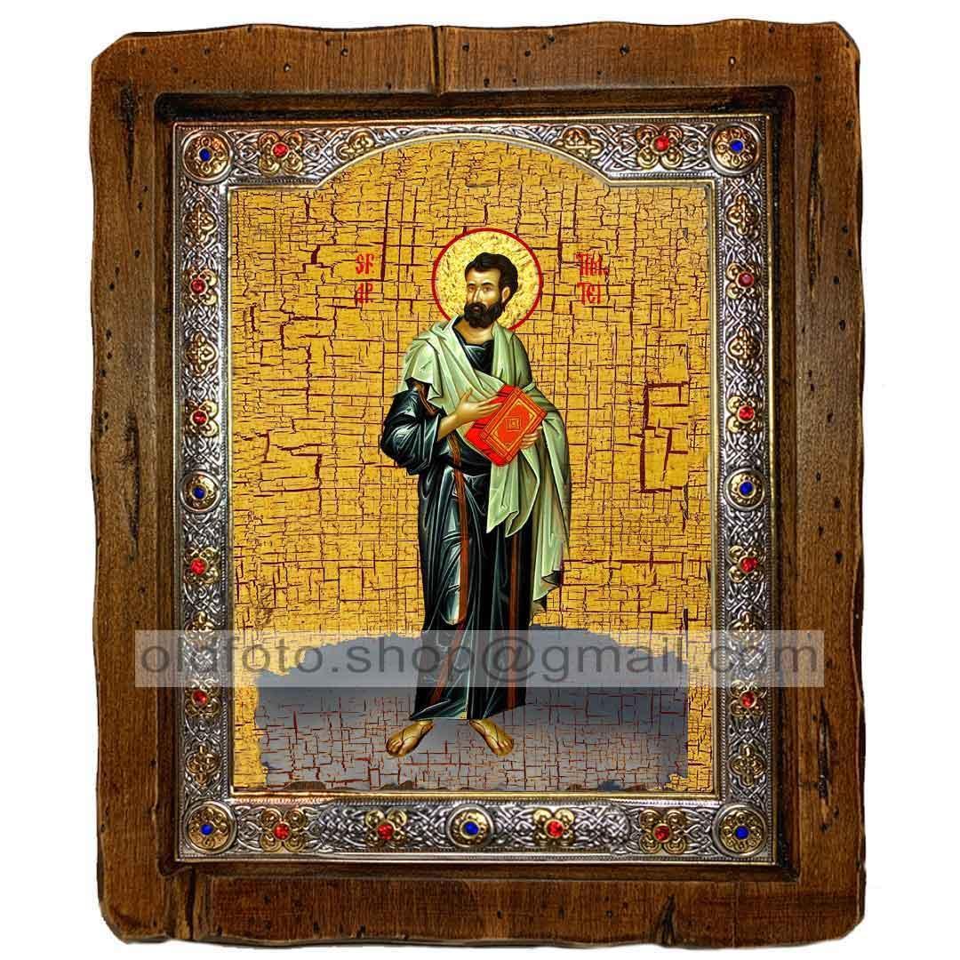 Ікона Святий Апостол Тимофій (з посрібленою рамкою 110х130 мм)