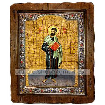 Икона Тимофей Святой Апостол   ,с посеребренным окладом 110х130 мм