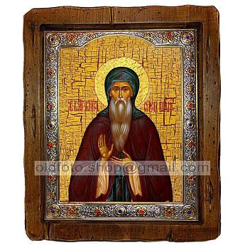 Икона Олег Святой Благоверный Князь Брянский  ,с посеребренным окладом 210х250 мм