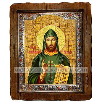 Икона Кирилл Святой Равноапостольный  ,с посеребренным окладом 110х130 мм