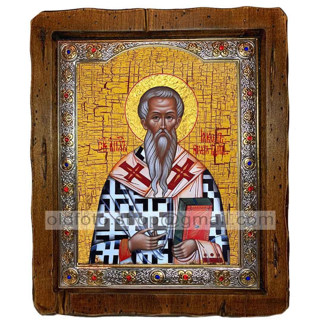 Икона Иаков Брат Господен (с посеребренной рамкой 110х130мм)