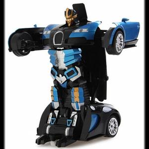 Машина-трансформер з пультом AUTOBOTS Bugatti Veyron Синя
