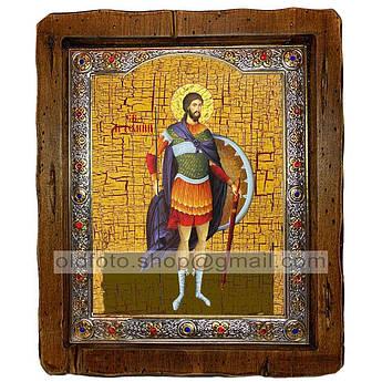 Икона Артемий Святой Великомученик Антиохский  ,с посеребренным окладом 210х250 мм