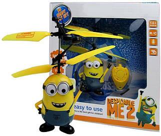 Літаюча іграшка Airset Міньйон з інфрачервоним датчиком USB кабель Р388 Жовтий