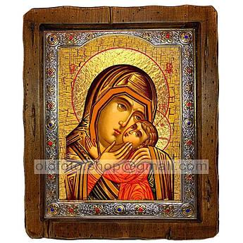 Спасительница Утопающих Икона Пресвятой Богородицы  ,с посеребренным окладом 110х130 мм