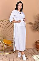 Женское льняное платье больших размеров