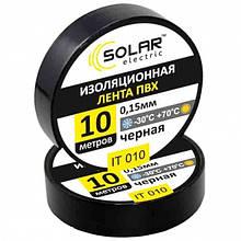 Ізолента SOLAR чорна 10м