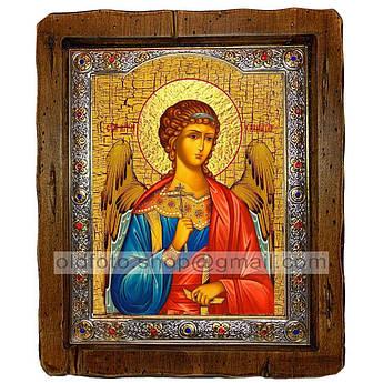 Икона Ангел-Хранитель  ,с посеребренным окладом 210х250 мм