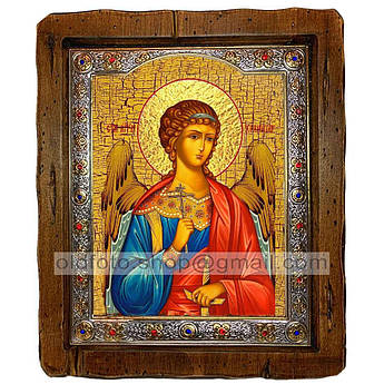 Икона Ангел-Хранитель  ,с посеребренным окладом 110х130 мм