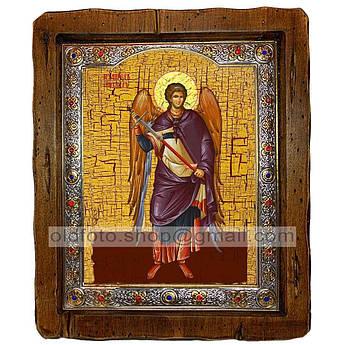 Икона Михаил Архистратиг  ,с посеребренным окладом 110х130 мм