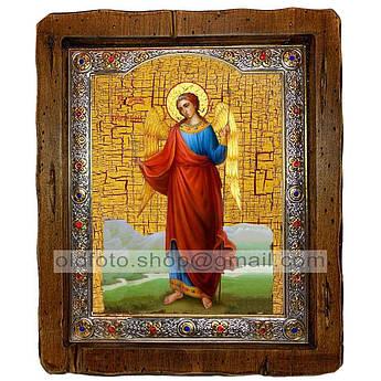 Икона Ангел Хранитель  ,с посеребренным окладом 110х130 мм