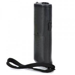 Ультразвуковий відлякувач собак Yoos AD-100 з LED підсвічуванням 130*40 мм Чорний (34026)