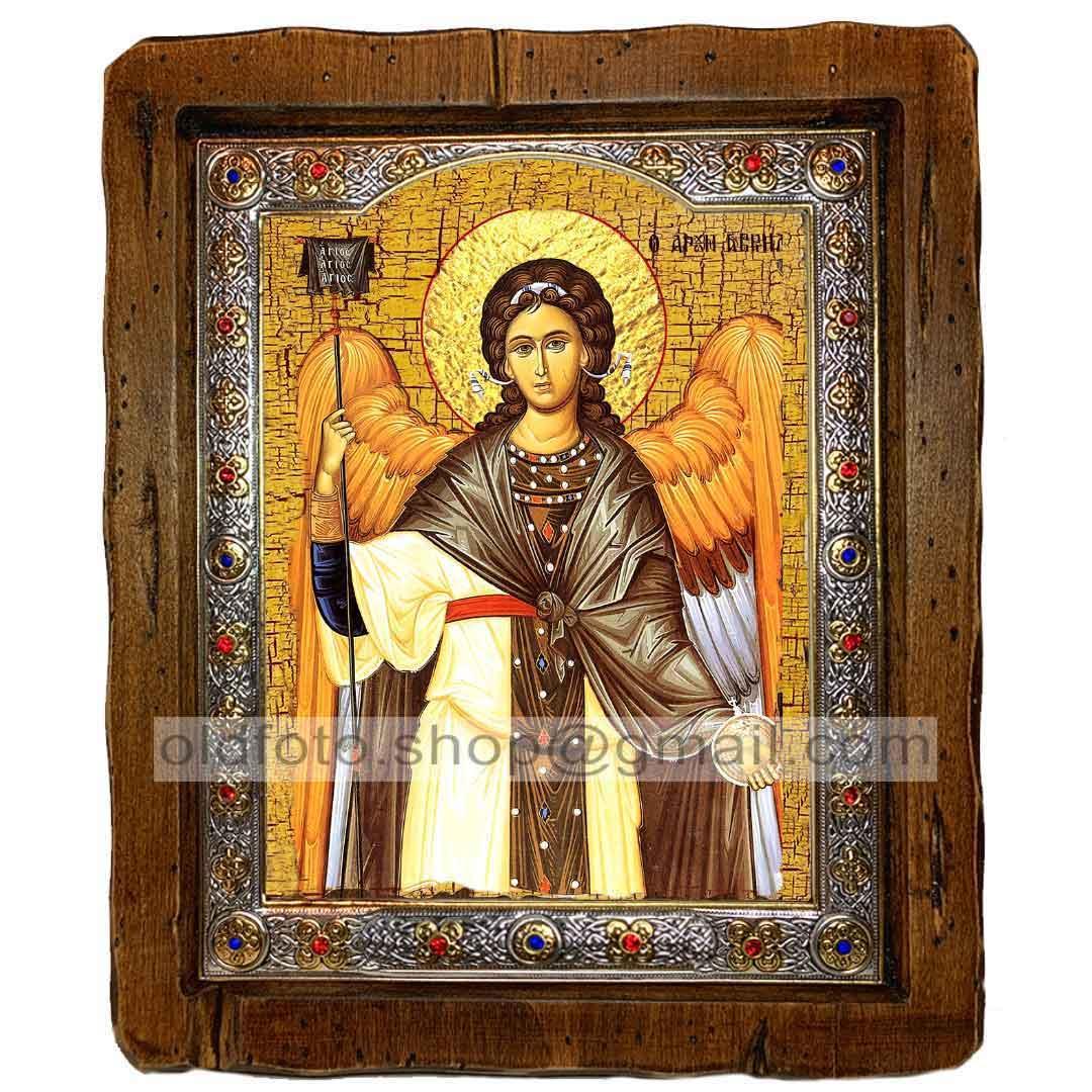 Икона Архангел Гавриил (с посеребренной рамкой 110х130мм)