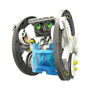 Конструктор робот на сонячних батареях Solar Robot 14 в 1 два рівня складності складання Різнобарвний (S141)