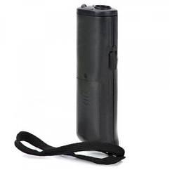 Ультразвуковой отпугиватель собак Yoos AD-100 с LED подсветкой 130*40 мм Черный (34026)