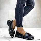 Жіночі туфлі лофери щіткою з натуральної шкіри, чорні, рожеві, червоні, бронзові, фото 4