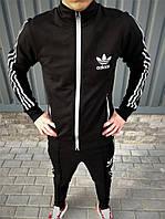 Костюм мужской спортивный Adidas черного цвета. Спортивная олимпийка + штаны Адидас. ТОП качество!!!Реплика.