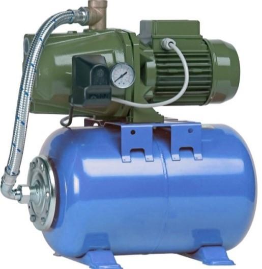 Автоматична насосна станція Saer KF4/24 L - 0,75 кВт з баком на 24л