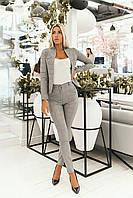 Женский, деловой костюм серый