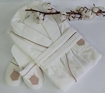 Халат мужской Maison D'or Boswell Braun bindet White S