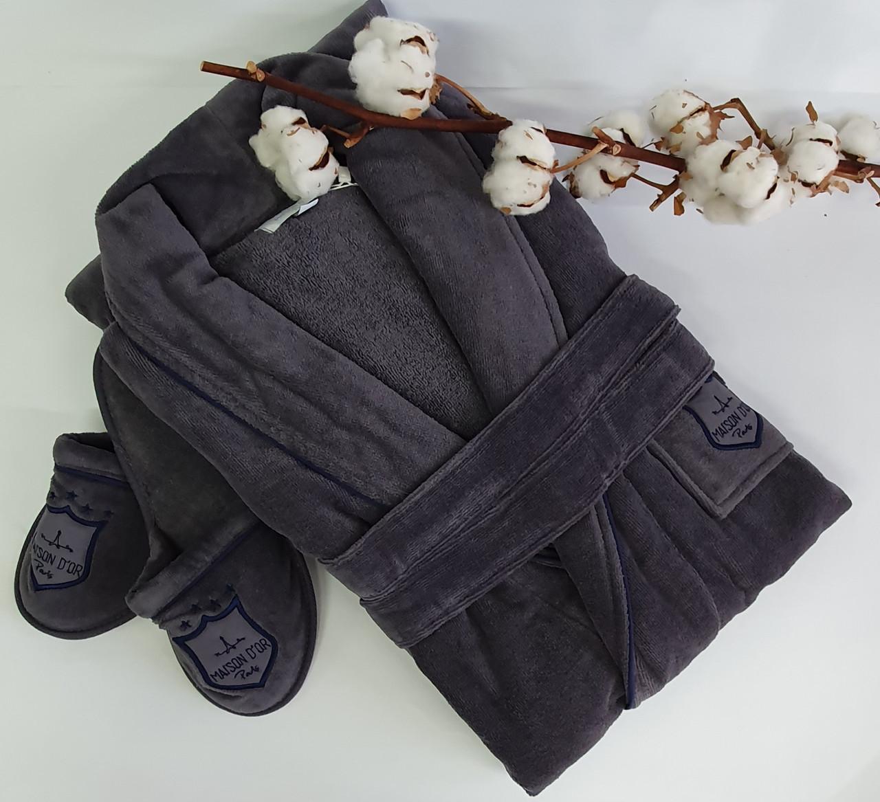 Халат чоловічий Maison d'or Boswell Grey XL
