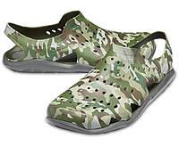 Crocs Swiftwater Camo Wave оригинал США M8 41-42 (26 cm.) сандалии акваобувь крокс original сандалі аквашузы