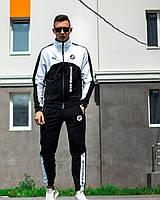 Спортивный костюм мужской Puma BMW Motorsport black-white демисезонный осенний   Премиум качества