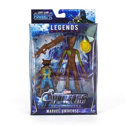 Грут и Енот Ракета Avenger (16 см) Мстители: Война бесконечности  Игрушка марвел, фото 2