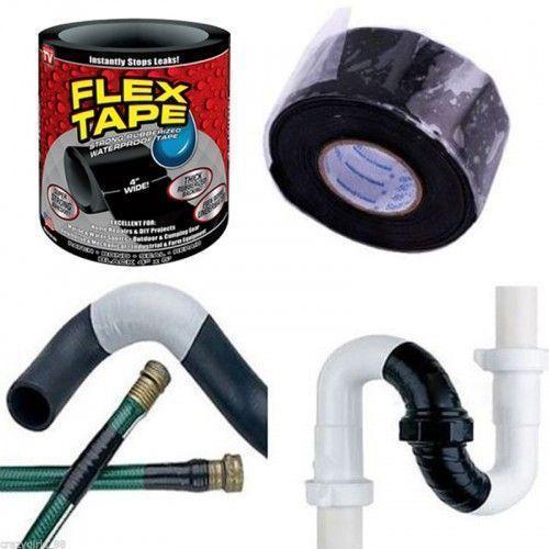 Супер прочная, прорезиненная, водонепроницаемая лента Flex Tape 10х150см