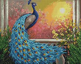 """Алмазная мозаика """"Царская птица"""" (птица, павлин, цветы)"""