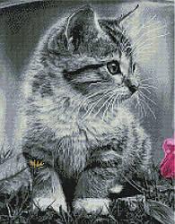 """Алмазная мозаика """"Котёнок"""" (кот, котята, кошка)"""