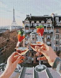 "Алмазная мозаика ""Бокалы Парижа"" (Париж, Эйфелева башня, Франция)"