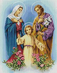 """Алмазная мозаика """"Святая Семья"""" (икона, религия, Иисус, Дева Мария)"""