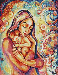 """Алмазная мозаика """"Волшебство материнства"""" (мама, ребенок, родитель, подарок)"""