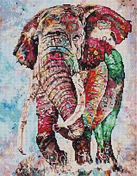 """Алмазная мозаика """"Индийский слон"""" (животные, слон)"""