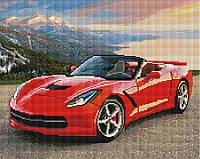 """Алмазная мозаика """"Красный спорткар"""" (машина, авто, автомобиль, мальчику, парню, мужчине)"""