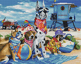 """Алмазная мозаика """"Песики на отдыхе"""" (собака, пес, щенок, далматинец)"""