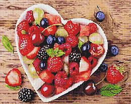 """Алмазная мозаика """"Спелые ягоды"""" (ягоды, фрукты, еда)"""