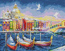 """Алмазная мозаика """"Сказочная Венеция"""" (Венеция, Италия, канал)"""