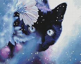 """Алмазная мозаика """"Любопытство"""" (Кот, Кошка, Черный кот)"""