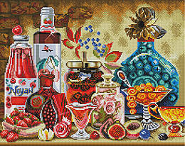 "Алмазная мозаика ""Кухонный натюрморт"" (натюрморт, кухня, на кухню)"