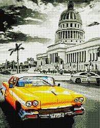 """Алмазная мозаика """"Кубинское ретро"""" (авто, автомобиль, машина, для мальчика, для парня, для мужчины)"""