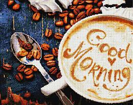 """Алмазная мозаика """"Утренный кофе"""" (кофе, утро, чашка)"""