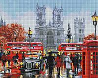 """Алмазная мозаика """"Дождливый Лондон"""" (Лондон, Англия, город)"""