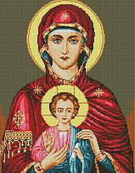 """Алмазная мозаика """"Икона Иисус и Мария"""" (икона, религия)"""