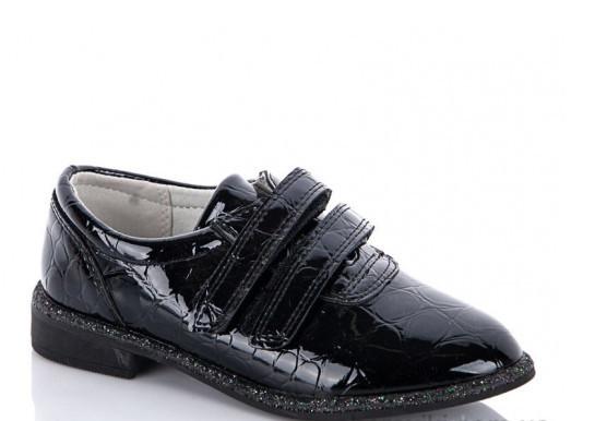 Туфли подростковые черные,туфли детские школьные на девочку Солнце-Kimbo-o-K37-35