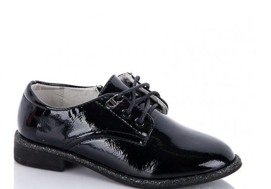 Туфли подростковые черные,туфли детские школьные на девочку Солнце-Kimbo-o-K37-32