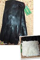 Натуральная кожа+Овчина Мех(Цельная) Мужские перчатки/Перчатки мужские кожаные