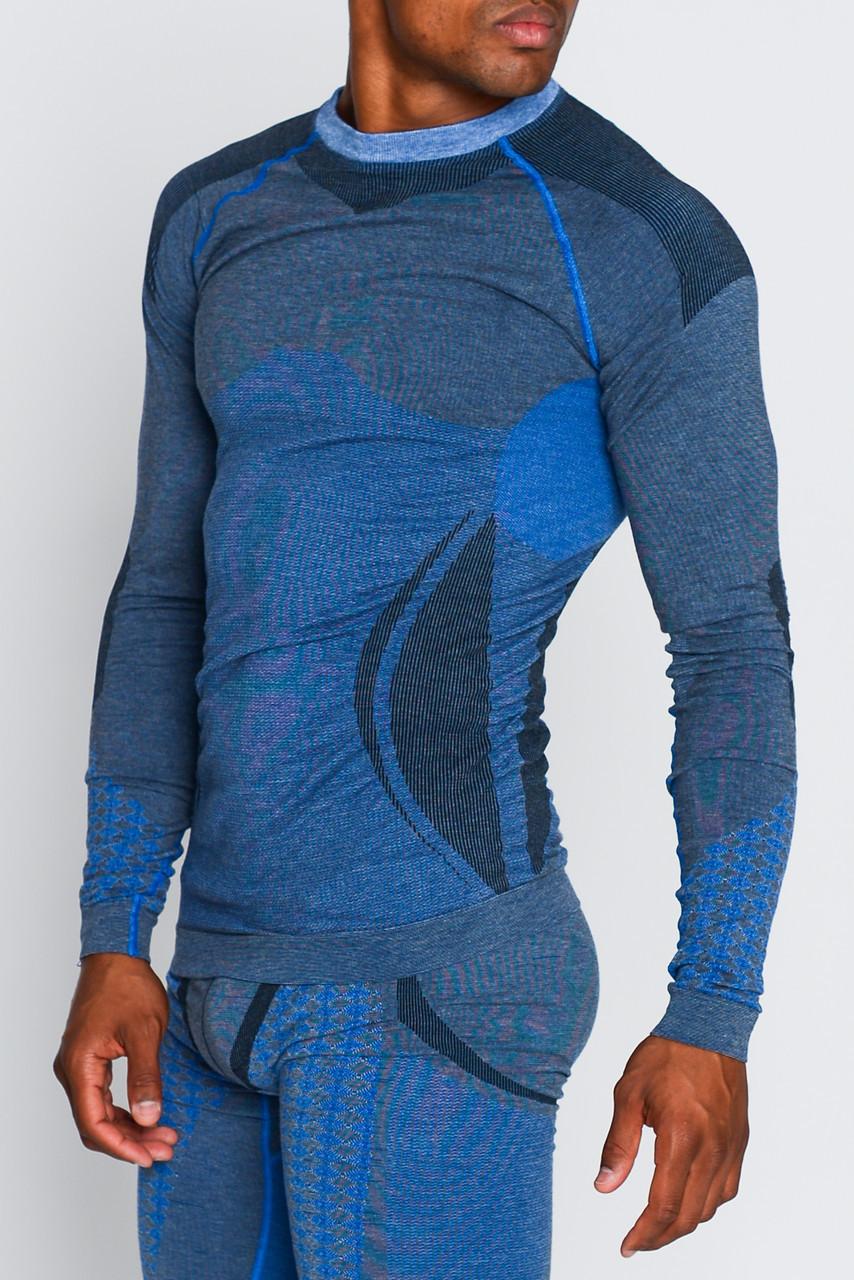 Мужская термокофта с шерстью альпаки HASTER ALPACA WOOL зональное бесшовное шерстяное термобелье