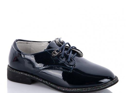 Туфли подростковые синие,туфли детские школьные на девочку Солнце-Kimbo-o-K37-10